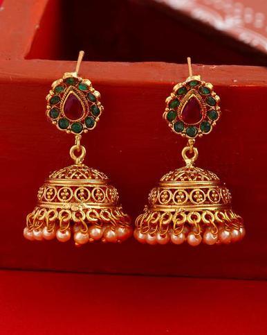 Imitation Antique Pearl Jhumka