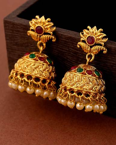 Floral Antique Jhumka