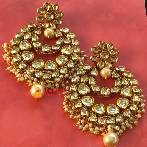 Bold Bridal Chandbali Earrings