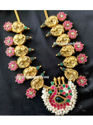 Elegant Peacock Necklace Set