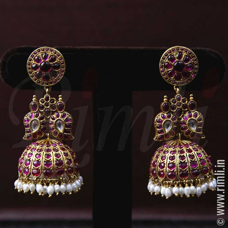 Gold Plated Mango Jhumka