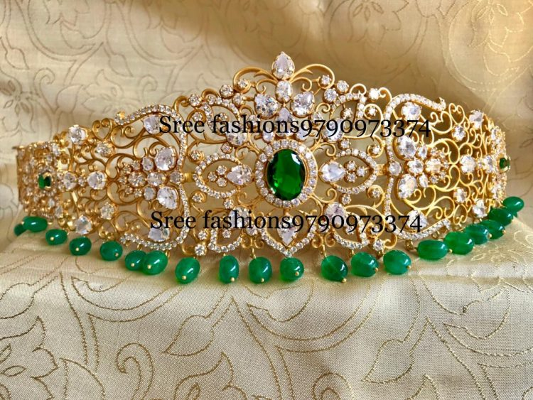 Gold Plated Pure Silver Waist Belt