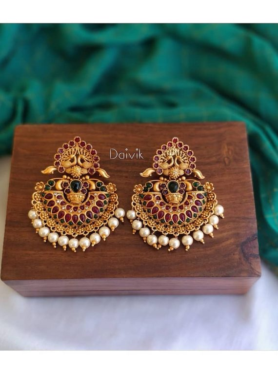 Imitation Antique Chandbali Earrings