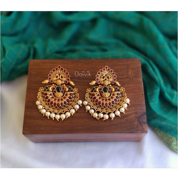 Imitation Antique Chandbali Earrings