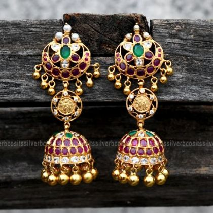 Semi Precious Antique Jhumka