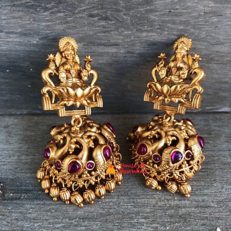 Temple Lakshmi Jhumka
