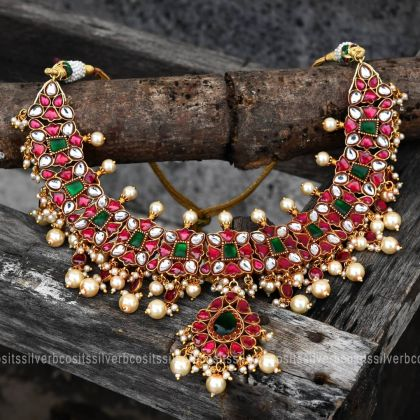 Traditional Gold Plated Silver Necklace