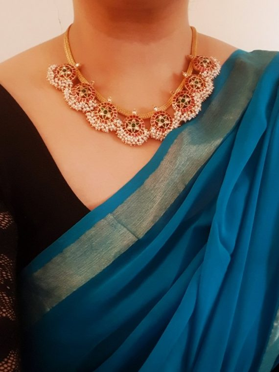 Gold Plated Antique Butta Necklace