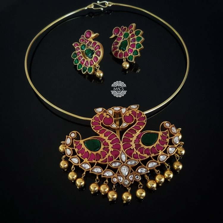 Gold Plated Light Weight Necklace Set