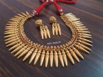 Gold Plated Spike Necklace Set