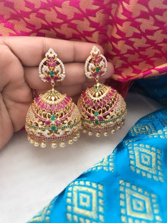 Imitation Stone Jhumka