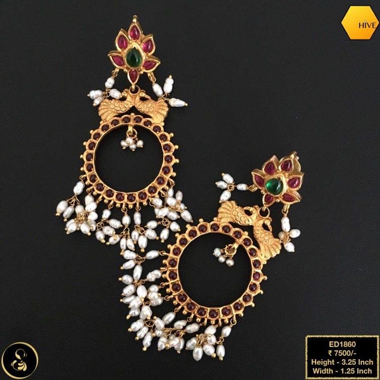 Gold Plated Guttapusalu Earrings