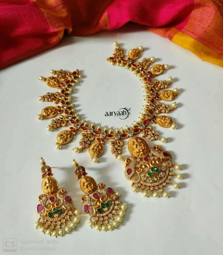 Goddess Lakshmi Coin Necklace