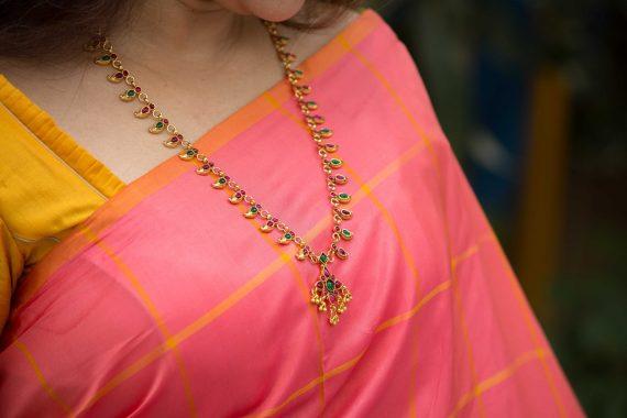 Imitation Mango Necklace Set