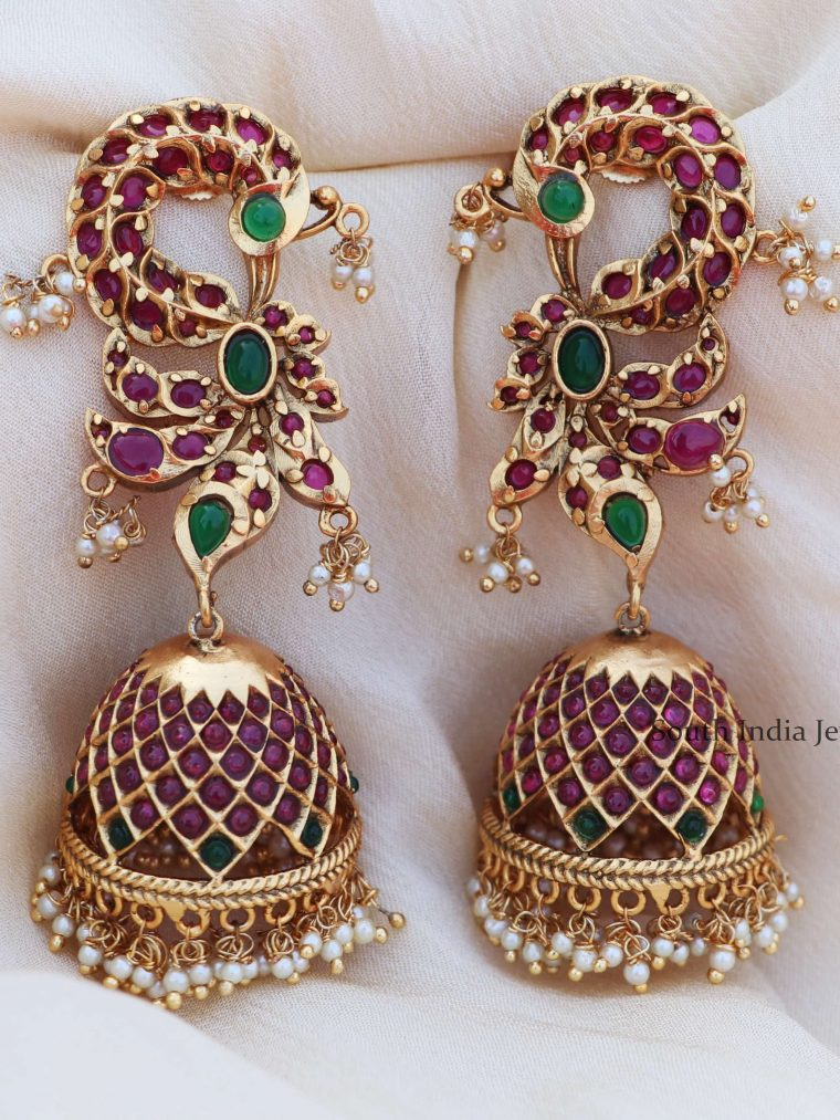 Long Statement Peacock Jhumkas
