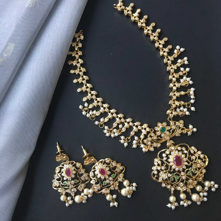 South-indian-imitation-necklace-set