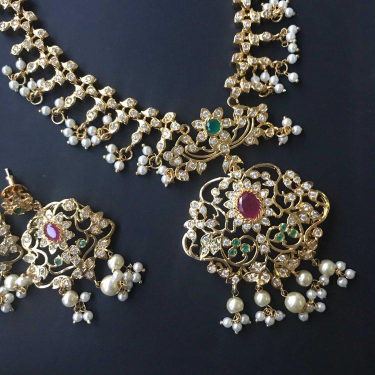 South-indian-imitation-necklace-set