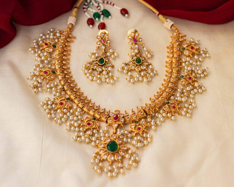 Antique Guttapusalu Necklace & Earrings-01