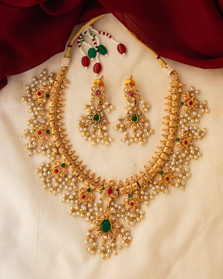 Antique Guttapusalu Necklace & Earrings-02