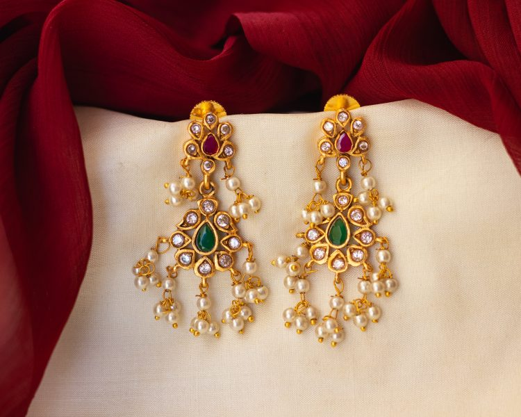 Antique Guttapusalu Necklace & Earrings-03