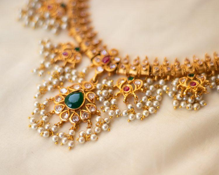 Antique Guttapusalu Necklace & Earrings-04 (2)
