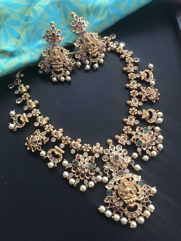 Matt Multistone Goddess Necklace Set-01