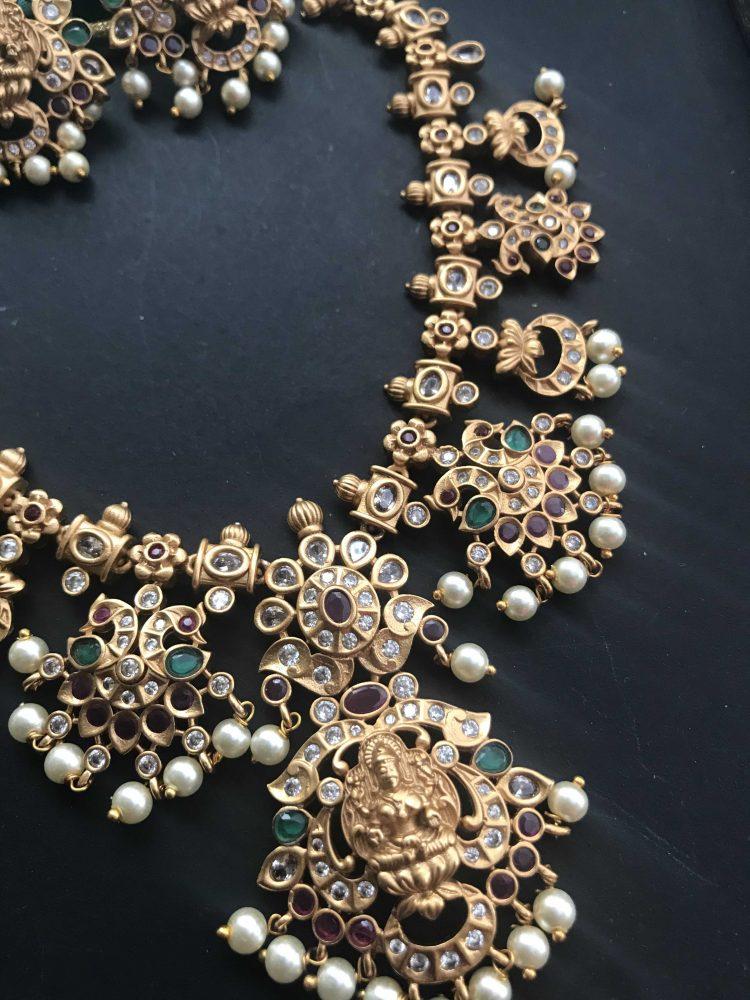 Matt Multistone Goddess Necklace Set-02