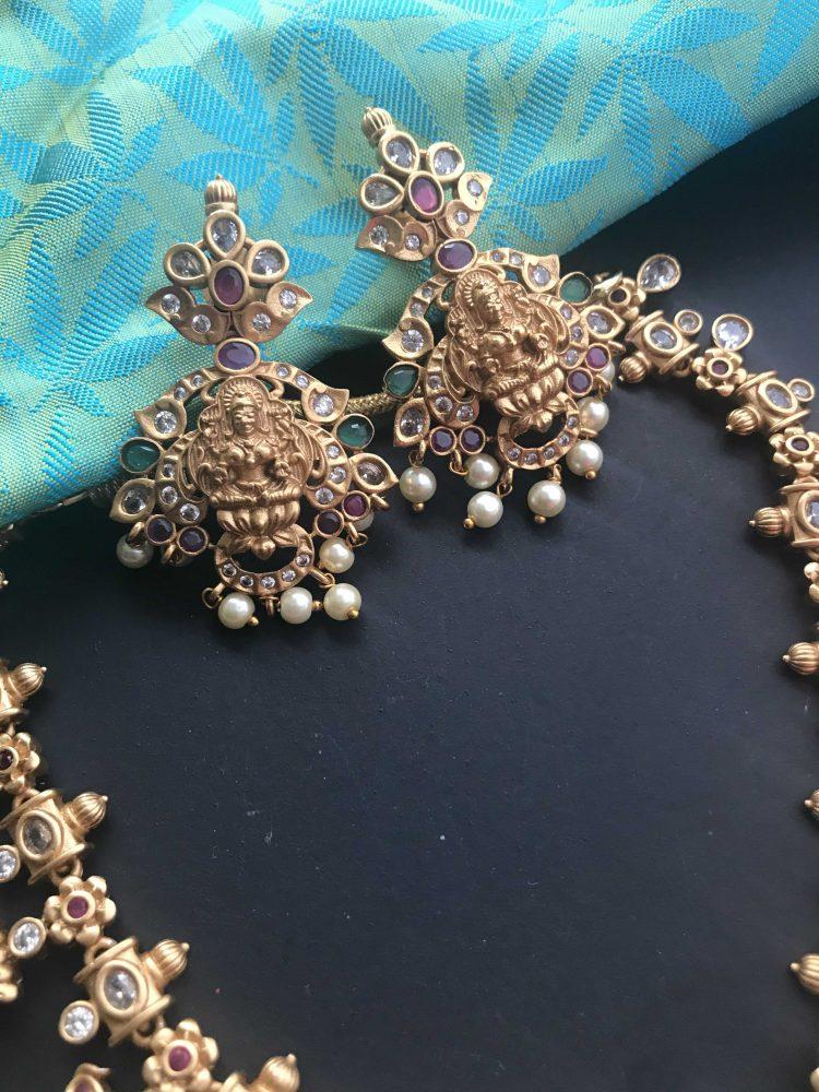 Matt Multistone Goddess Necklace Set-03