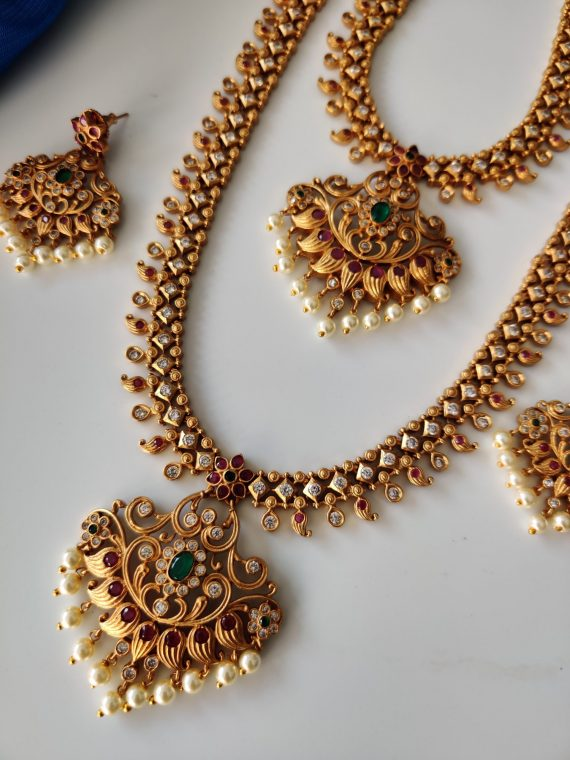 Traditional Necklace & Haram Combo Set