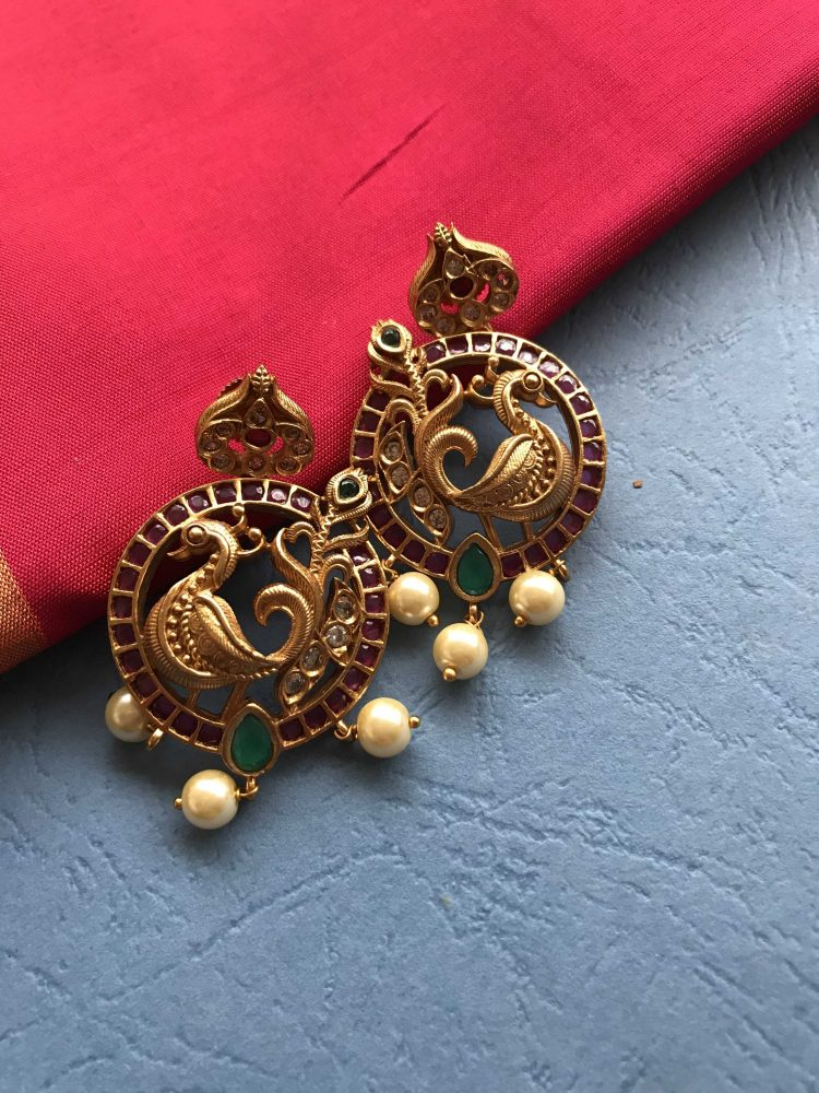 Antique Peacock Earrings-01