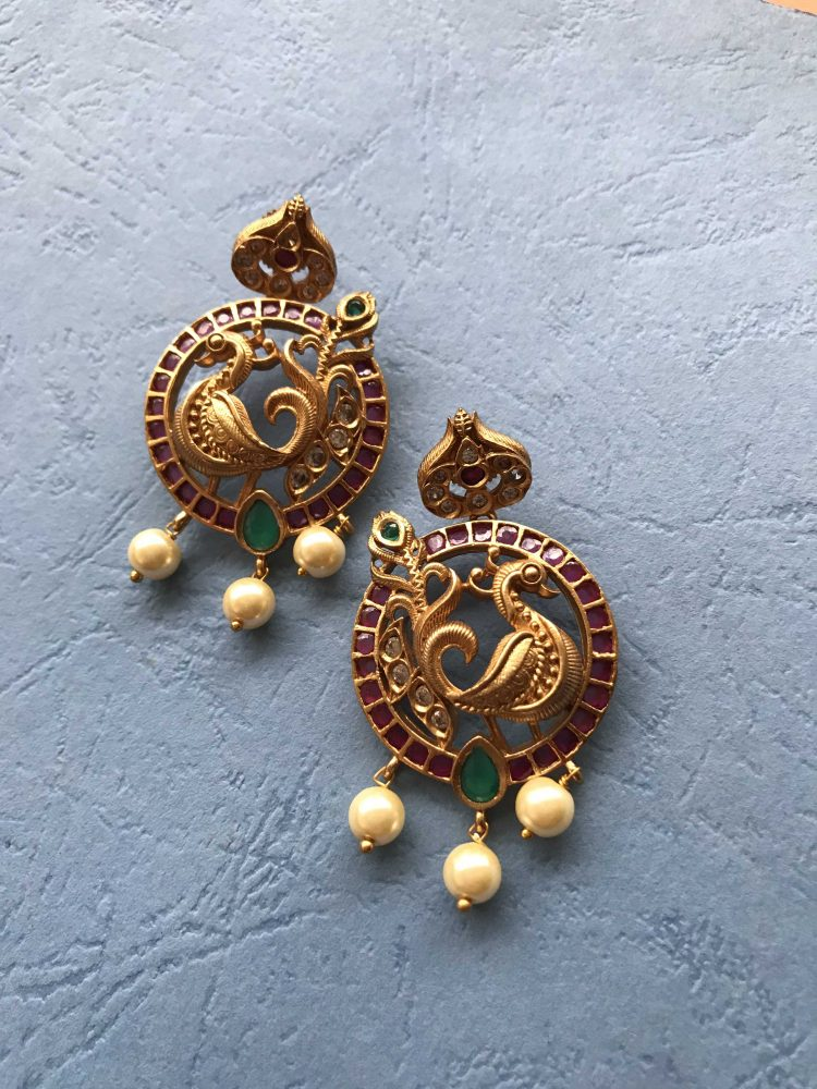 Antique Peacock Earrings-02