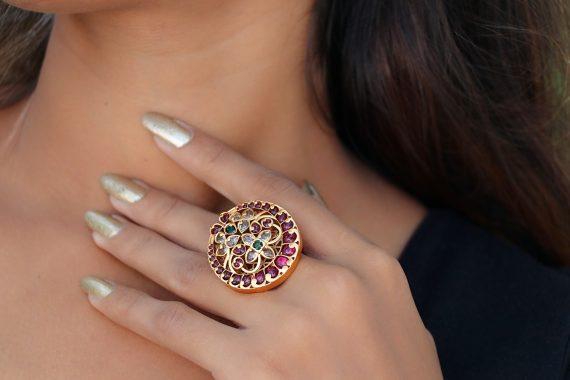 Chand Kemp stone adjustable finger ring-01
