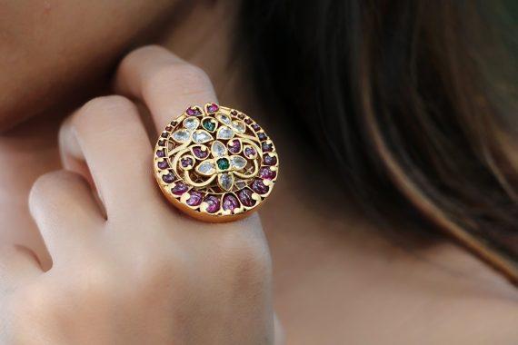 Chand Kemp stone adjustable finger ring-02