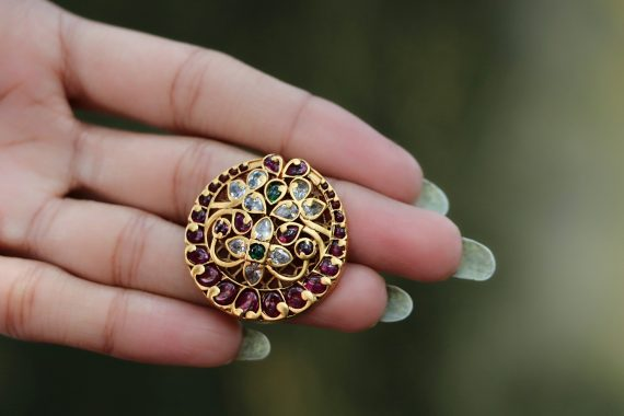Chand Kemp stone adjustable finger ring-03
