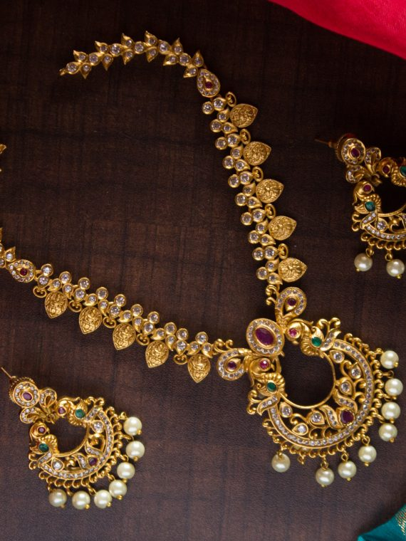 Imitation Cutwork Laxmi Necklace