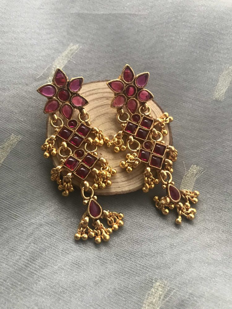 Kemp Floral Earrings-02