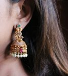 Light Weight One Gram Gold Jhumkas-02