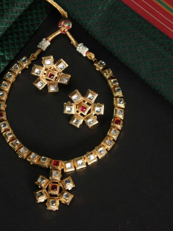 Traditional Kundan Necklace Set-01