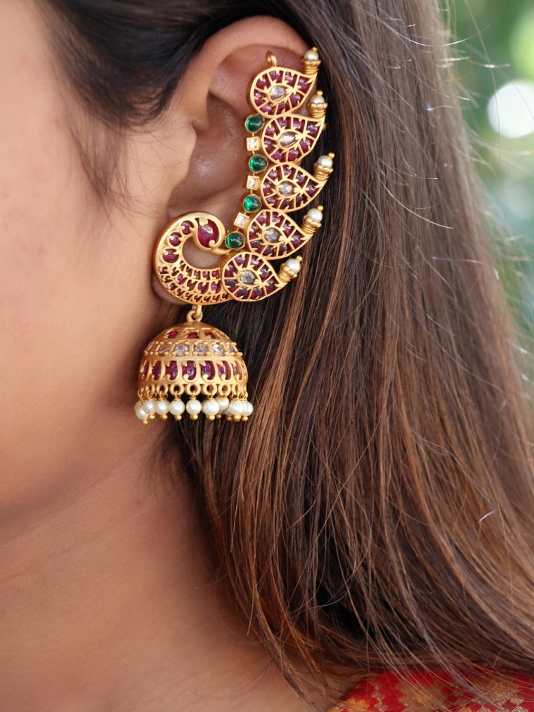 Antique Ear Cuff Jhumkas-01
