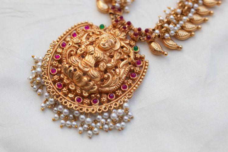 Antique Temple Pearl Necklace - 02