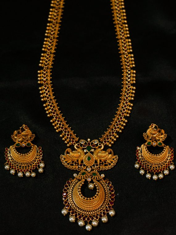 Imitation Necklcace With Chandbali Earrings