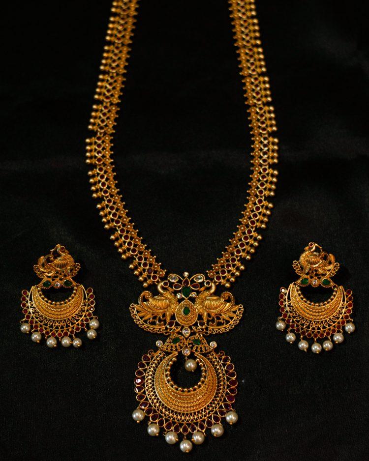 Imitation Necklcace With Chandbali Earrings