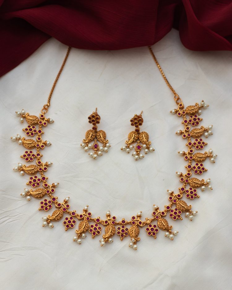 Light Weight Antique Pearl Necklace - 01