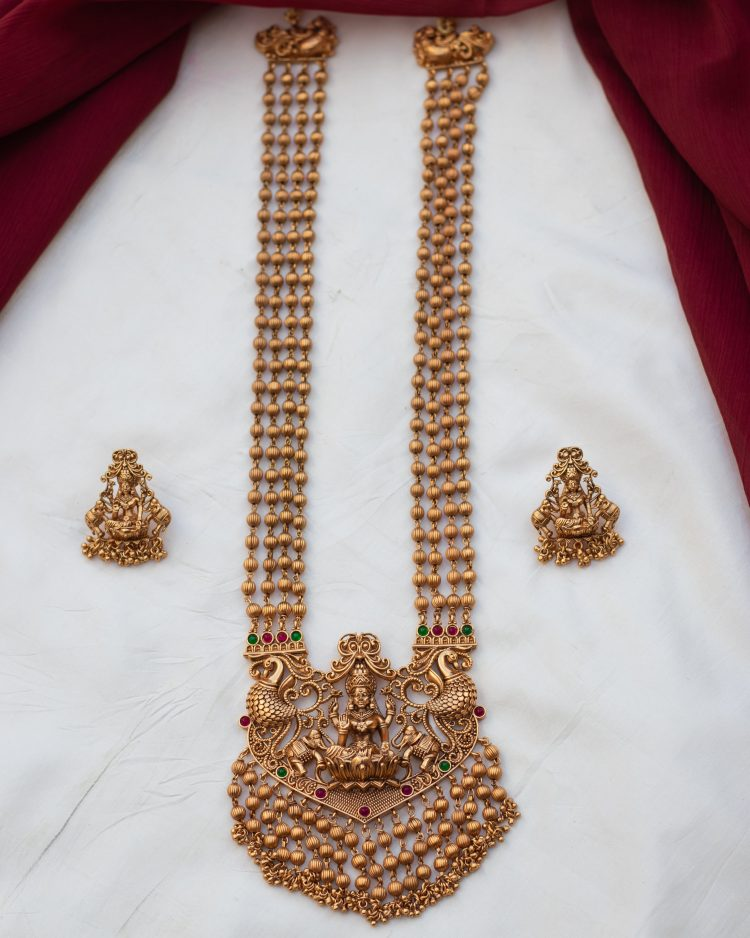 Long Three layer Lakshmi haram - 01