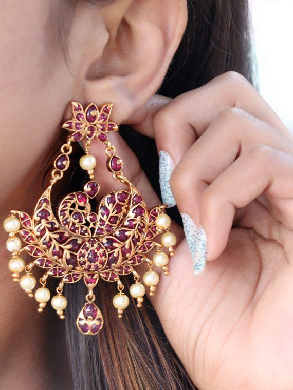One Gram Gold Designer Earing - 01