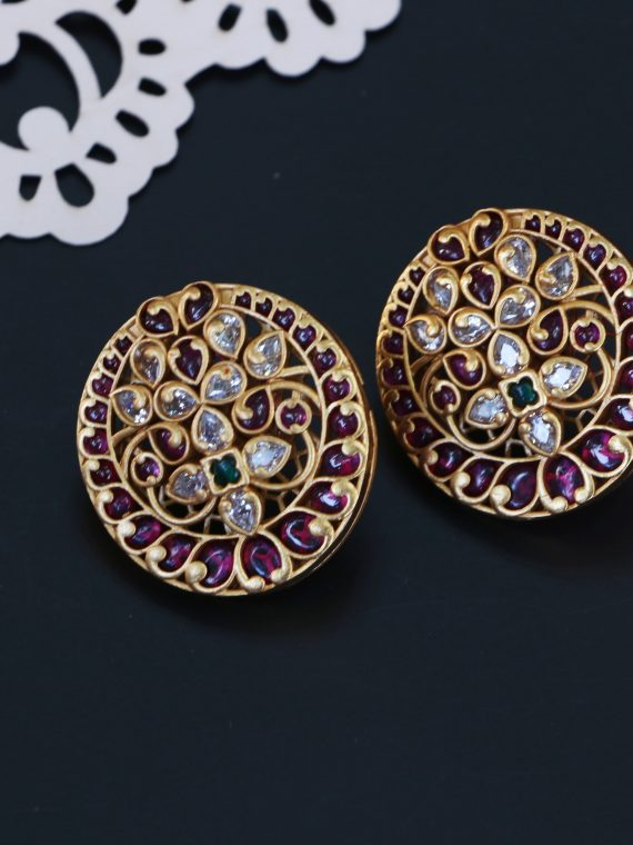 One Gram Gold Ear Stud - 02