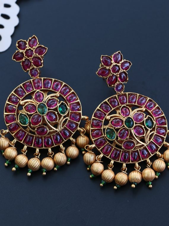 One Gram Gold Kemp Earings