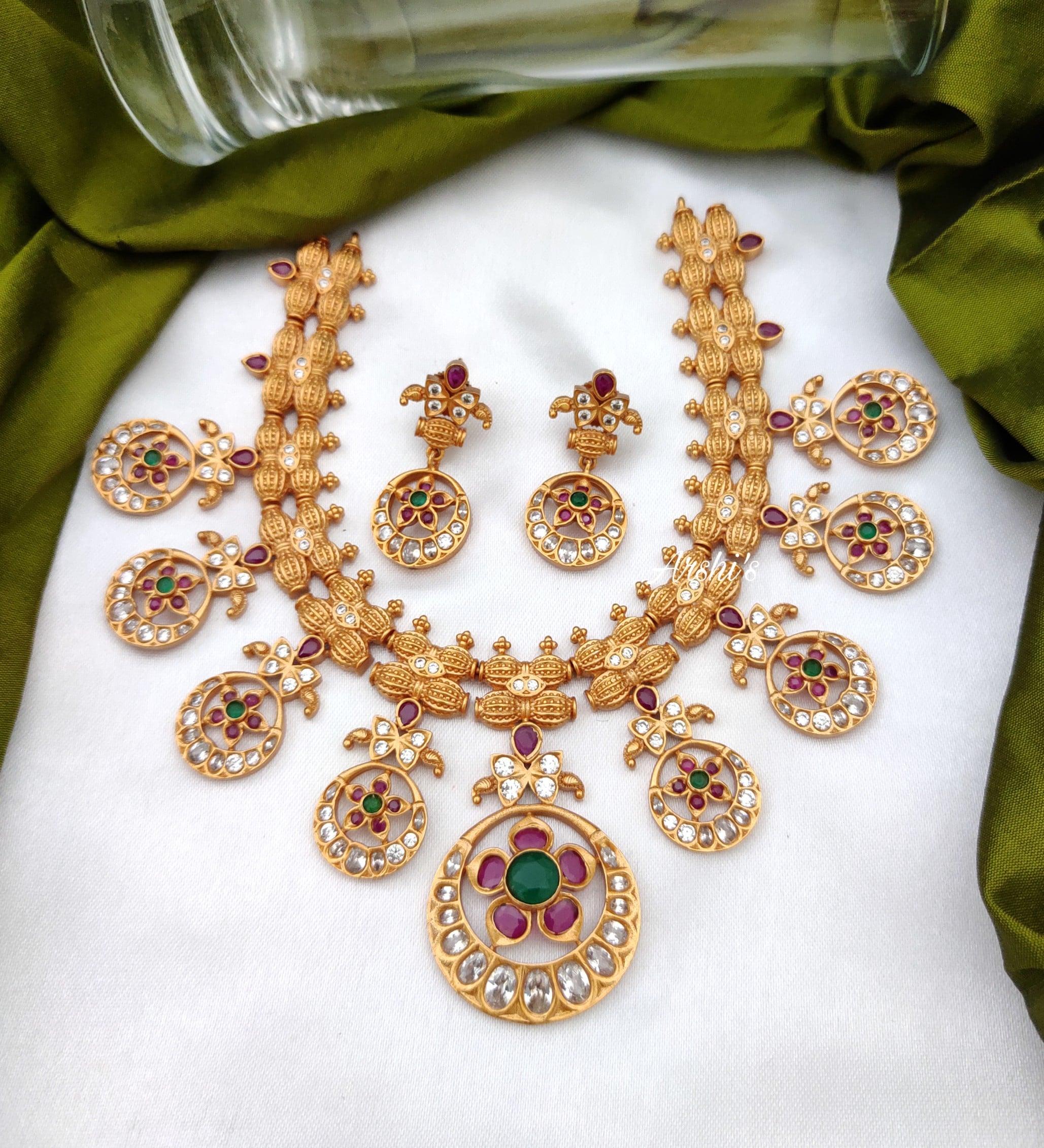 Antique AD Stone Necklace Set-01