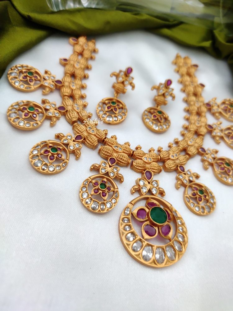 Antique AD Stone Necklace Set-02
