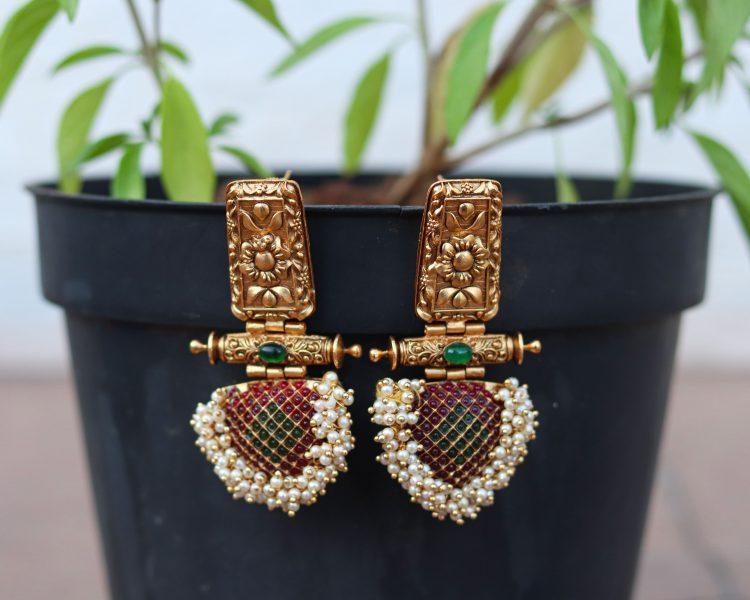 Designer Pearl Earrings-01